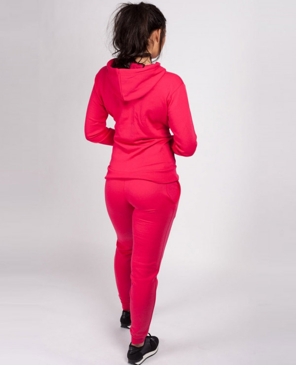 Pink-Running-Hooded-Casual-Tracksuit