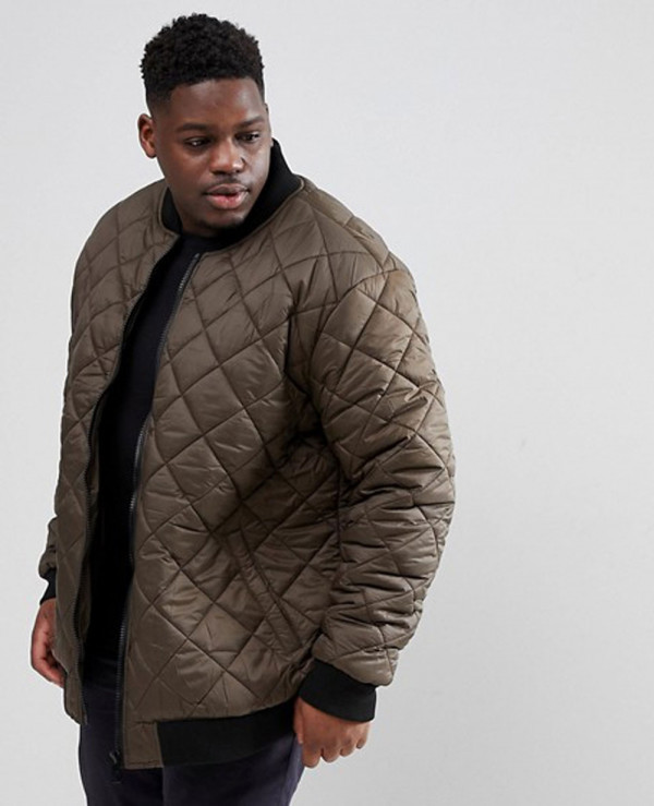 Plus-Size-Quilted-Bomber-Zipper-Thru-Padded-Jacket