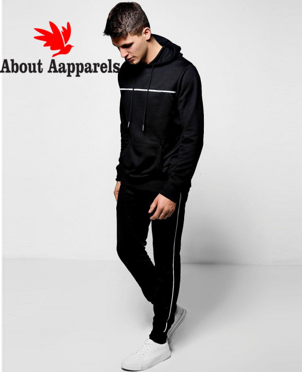 Pullover-Black-Over-The-Head-Hooded-Tracksuit-With-Piping