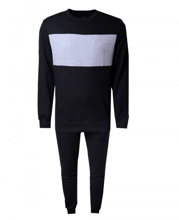 Pullover-Printed-Muscle-Fit-Panelled-Tracksuit