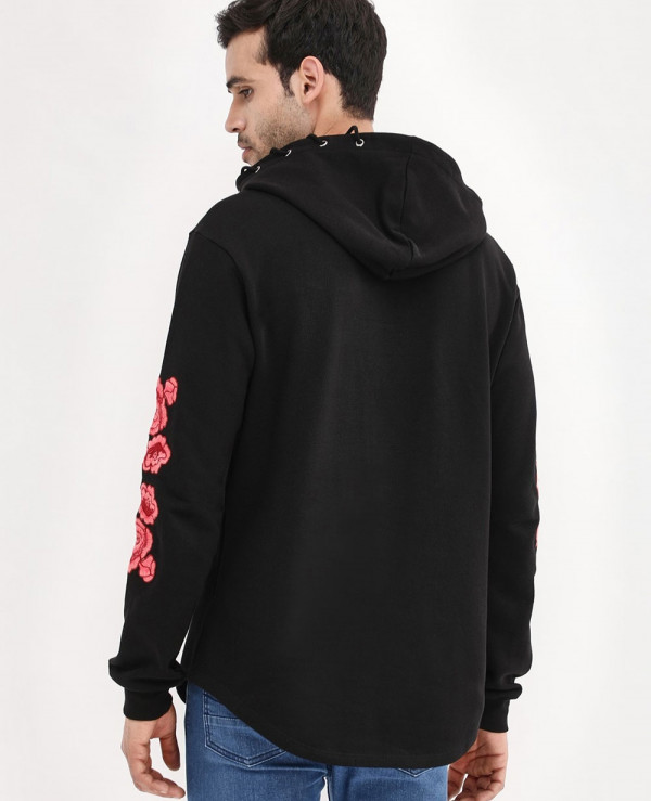 Rose-Embroidered-Curved-Hem-Hoodie
