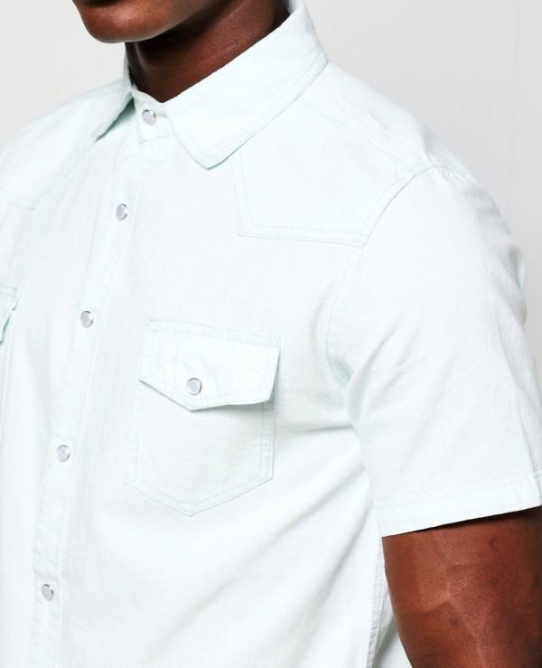 Short-Sleeve-Denim-Western-Shirt