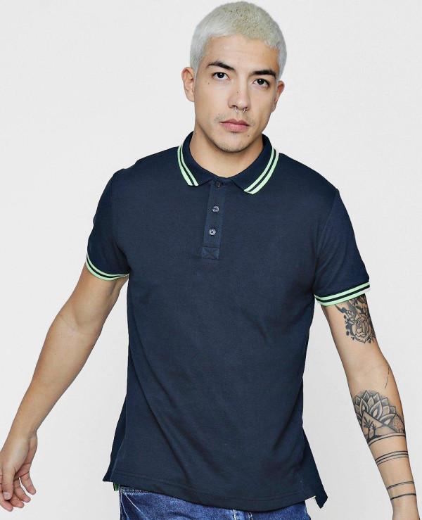 Short-Sleeve-Polo-With-Rib-Collar-Shirt