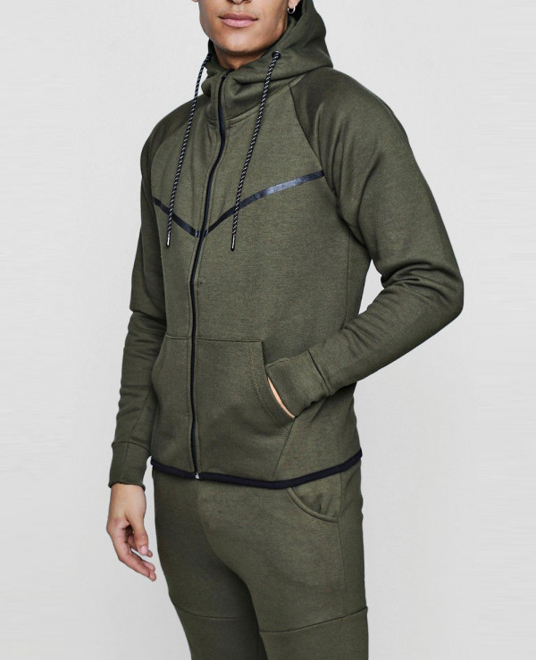 Skinny-Fit-Sport-Hooded-Tracksuit