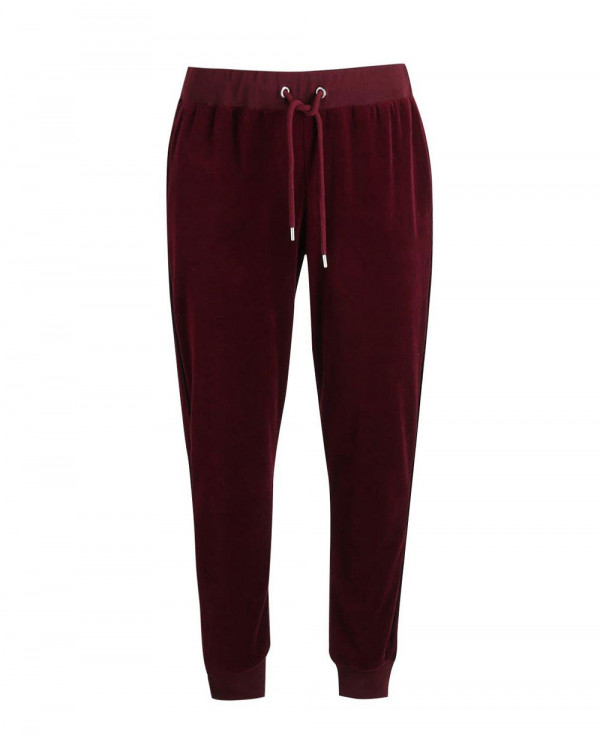 Skinny-Fit-Velour-Joggers-with-Piping