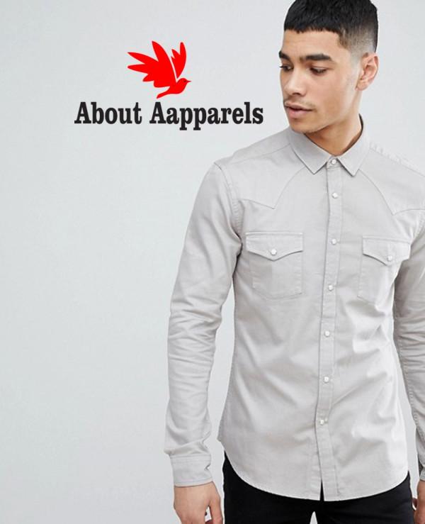 Skinny-Western-Denim-Shirt-In-Light-Grey