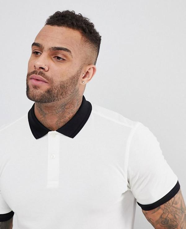 Slim-Fit-Matt-Tipped-Pique-Polo-Shirt-In-White
