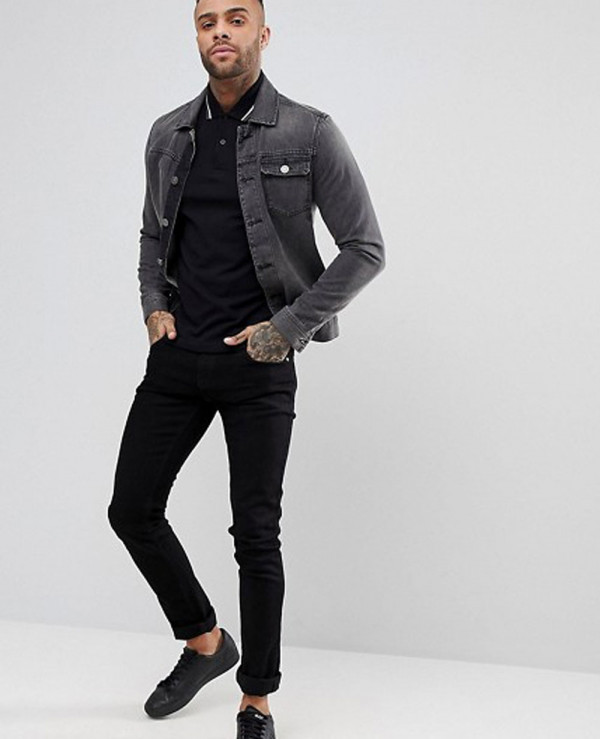 Slim-Fit-Twin-Tipped-Polo-Shirt-In-Black