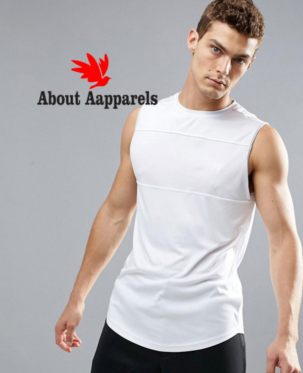 Sport-Vest-With-Mesh-Panel-In-White