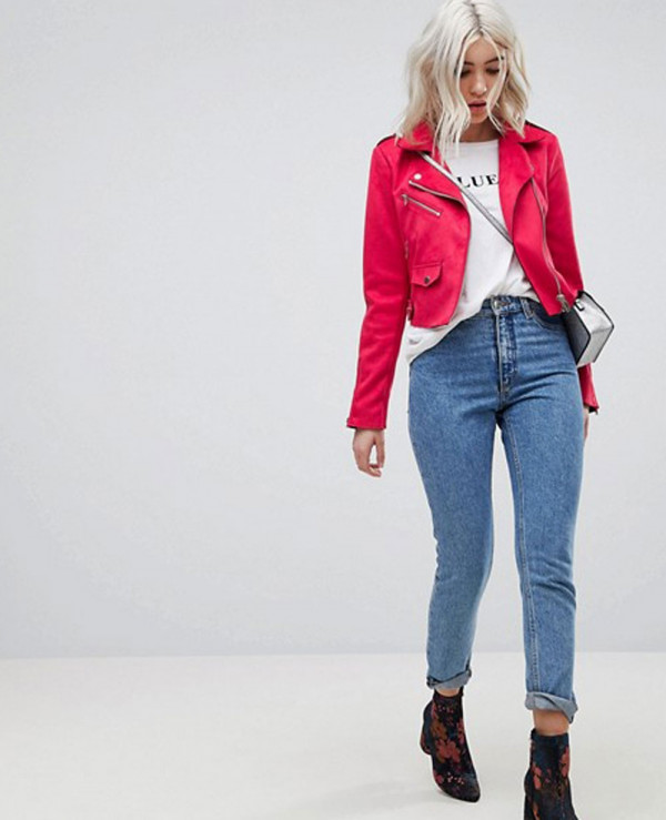 Suede-Look-Biker-Jacket