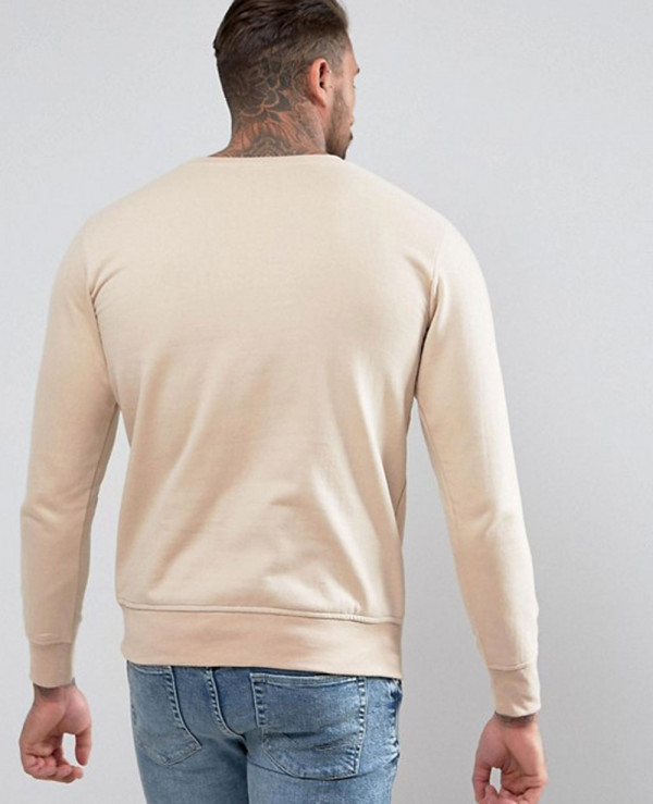 Sweatshirt-In-Beige-Exclusive