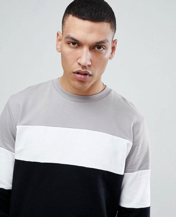 Sweatshirt-In-Colour-Block