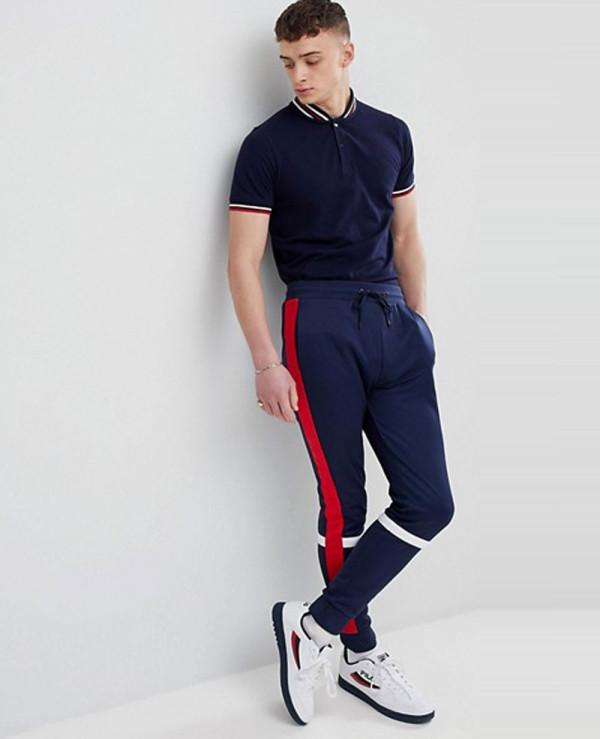 Vintage-Baseball-Polo-Shirt-In-Navy