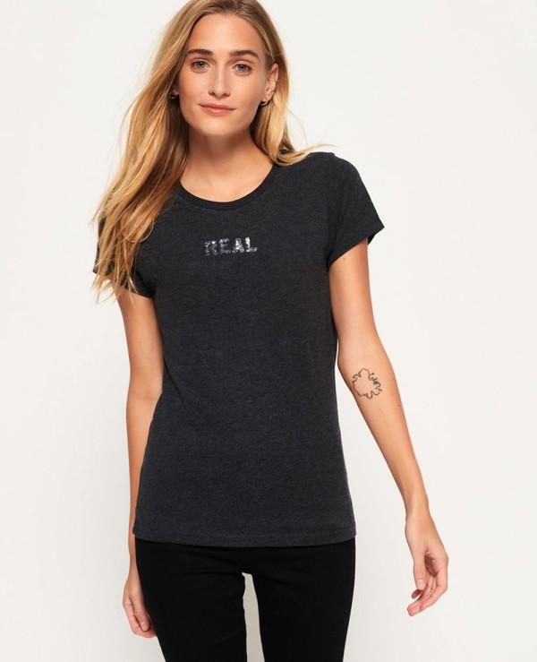 Vintage-Logo-Sequin-T-Shirt