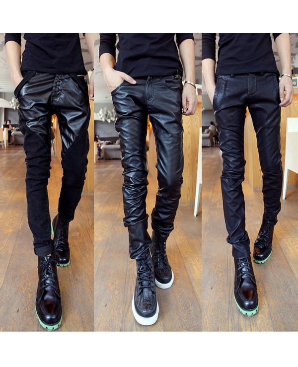 Vintage-Men-100-Percent-Leather-Pants-Black-Motorcycle