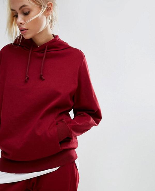 Women-Burgundy-Pullover-Hoodie