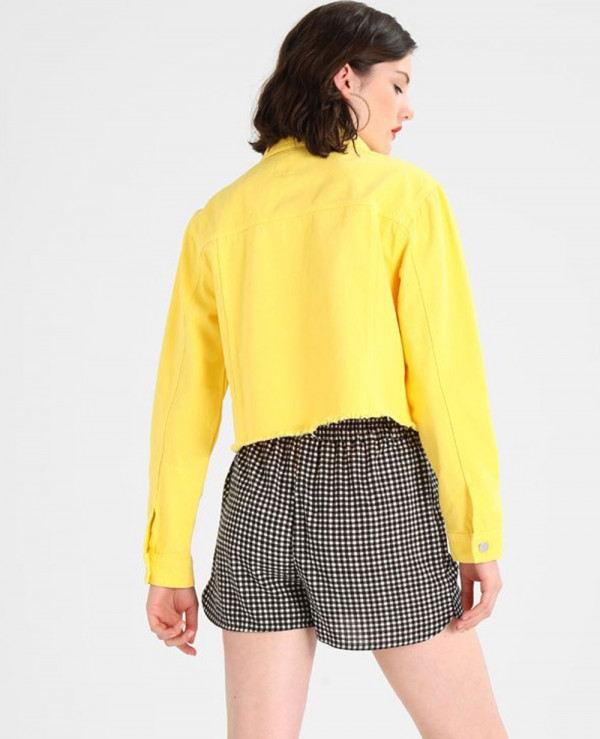 Women-Fashionable-Yellow-Denim-jacket