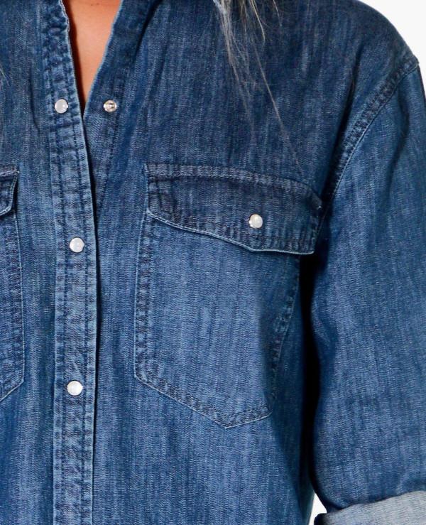 Women-Longline-Oversized-Denim-Shirt