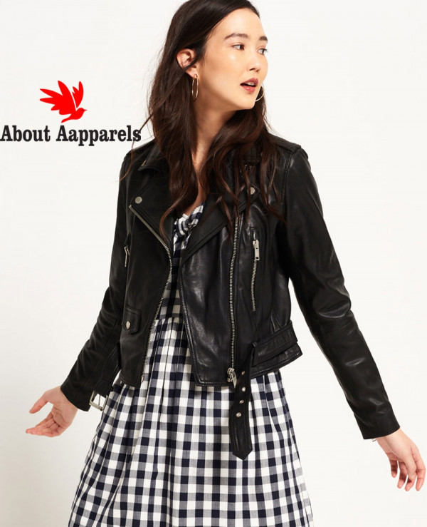 Women-Tier-Leather-Biker-Jacket