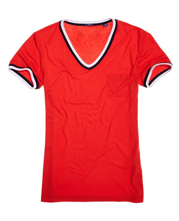 Women-Vintage-Red-T-Shirt
