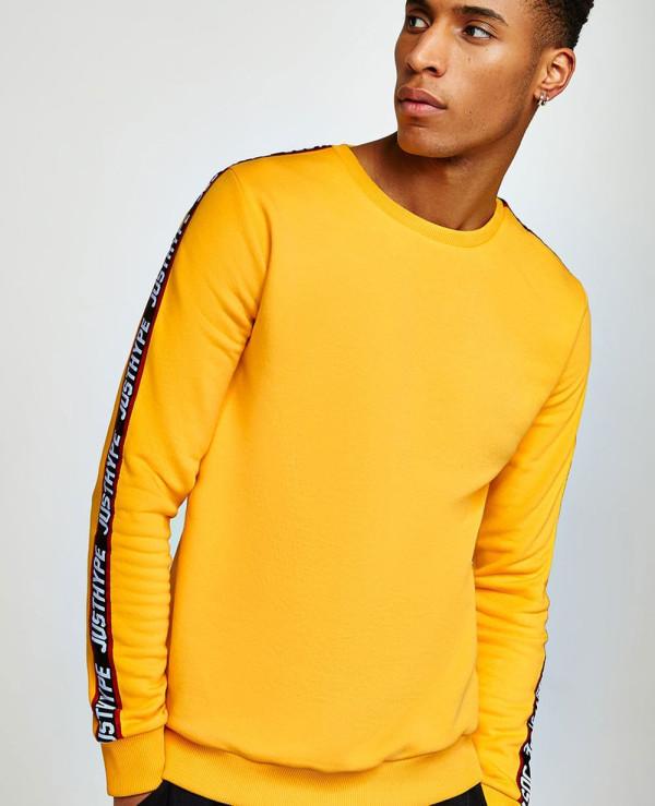 Yellow-Taping-Men-Sweatshirt