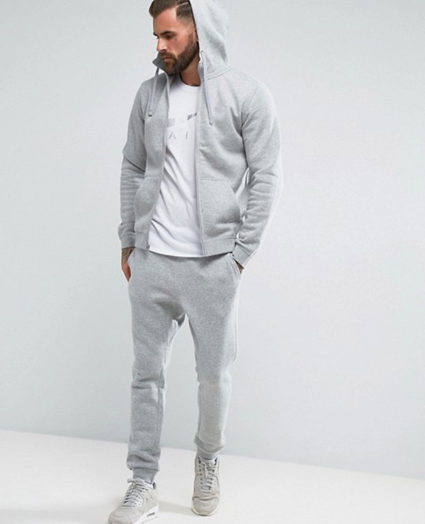 Zip-Up-Hoodie-With-Futura-Logo-In-Grey